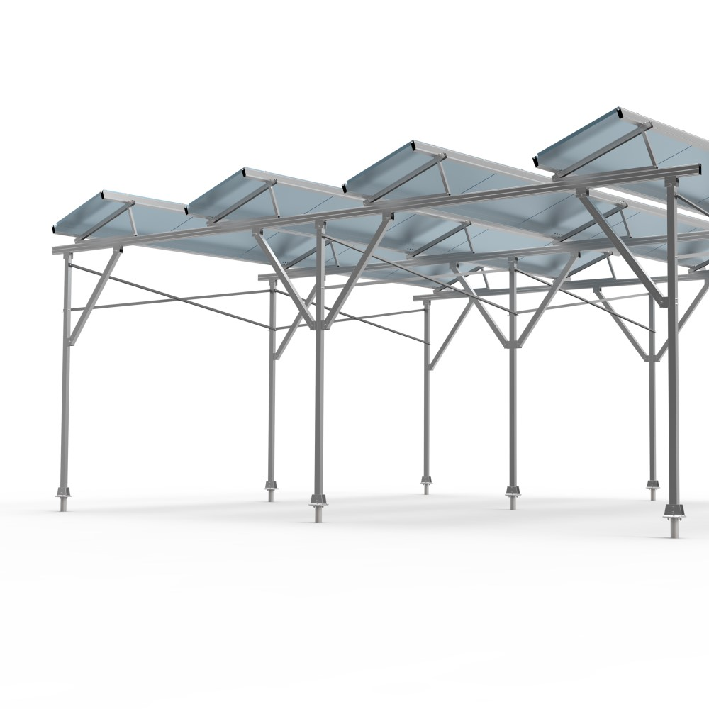 Agriculture solar shared mounting structure