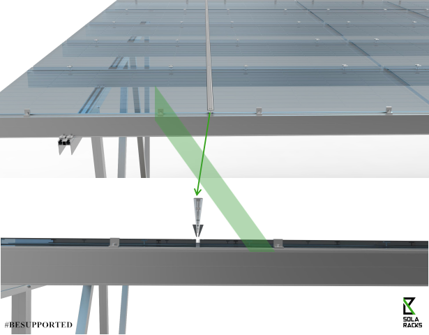 solar canopy, solar carport, solar carpark, solar carport structure, solar carpark structure, EV charging station, charging station, electric vehicle charging, Solaracks Canopy mounting system