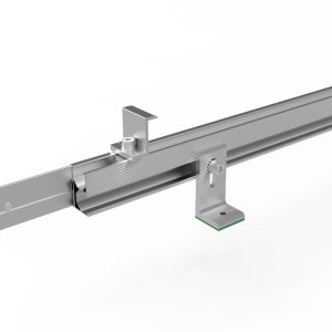 L foot pitched roof mounting system