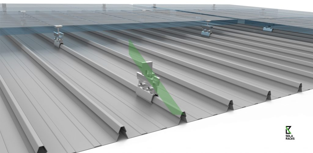 Rail free mounting system on roof clamp