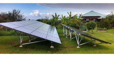 Open Terrain Solar PV Panel Ground Mounting System