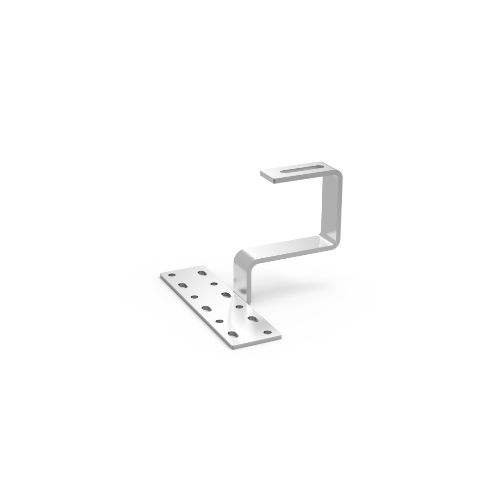 Tile hook for bottom mount rail used in solar Mounting System