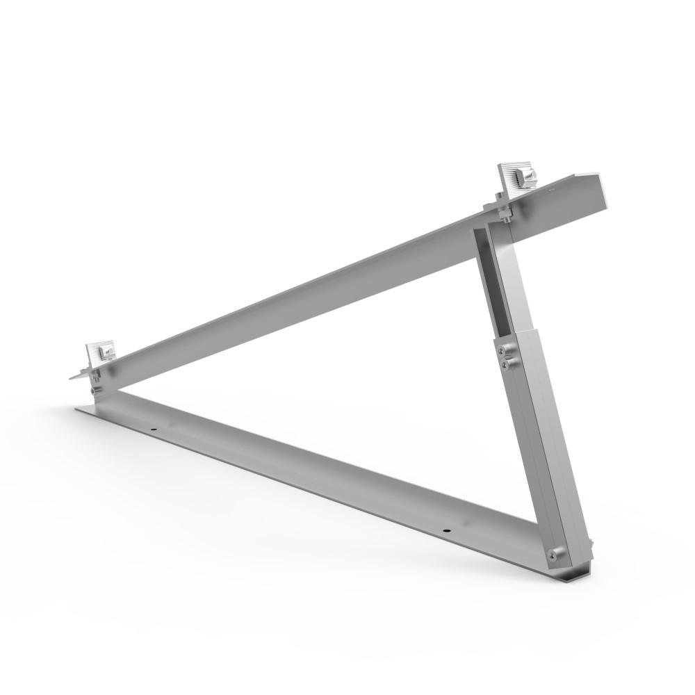 Adjustable triangle for Adjustable tilt flat roof mount